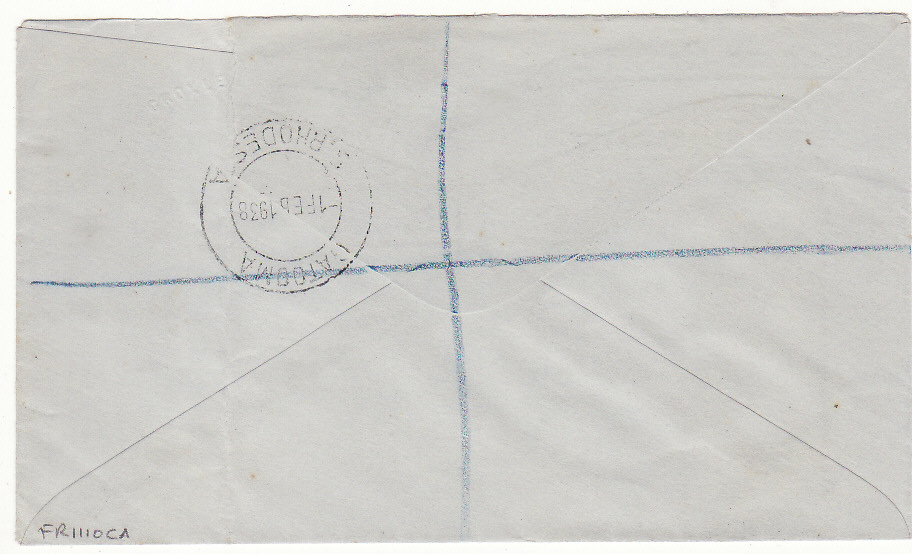 [20415]  RHODESIA - SOUTH AFRICA..FIRST DAY LOCAL AIR MAIL REGISTERED & with GOLD MINING PROMOTIONAL LABEL..  1938 (Feb 1)